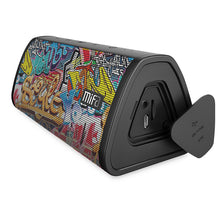 Load image into Gallery viewer, okeegadgets-portable-water-resistant-bluetooth-speaker-graffiti-version-on-white-background