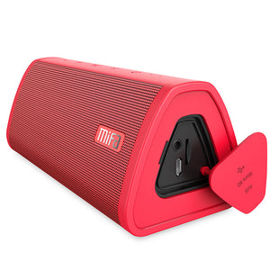 okeegadgets-portable-water-resistant-bluetooth-speaker-red-color-on-white-background