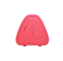 Load image into Gallery viewer, okeegadgets-portable-water-resistant-bluetooth-speaker-red-version-side-view-on-whitebackground