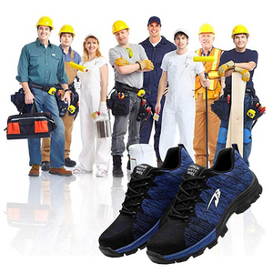 Puncture-Proof Steel-Toe Safety Work Shoes For Construction