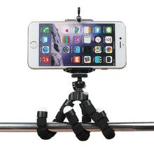 Load image into Gallery viewer, okeegadgets octopus tripod black silver bar grip back to school summer flexible fun gadget