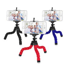 Load image into Gallery viewer, okeegadgets octopus tripod three colors black red blue back to school summer flexible fun gadget