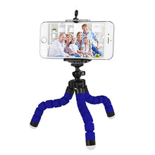 Load image into Gallery viewer, okeegadgets octopus tripod in blue back to school summer flexible fun gadget