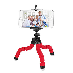 okeegadgets octopus tripod in red back to school summer flexible fun gadget