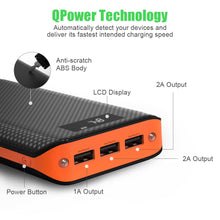 Load image into Gallery viewer, Power Bank 3 USB External Battery Pack