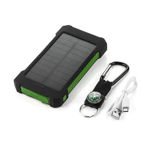 DUAL USB 20000mAh  Portable Solar Power Bank