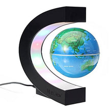 Load image into Gallery viewer, Okeebays MAIN IMAGE Magnetic Levitating Desktop Globe Blue C Stand DESKTOP TOYS GADGETS
