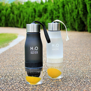 Okeegadgets Tea Fruit Lemon Lime Water Infuser Black White Versions On Tennis Court