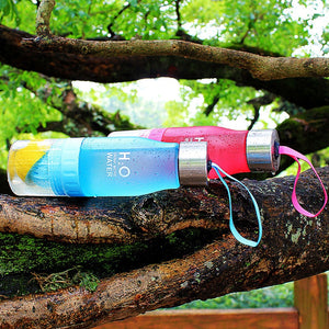 Okeegadgets Tea Fruit Lemon Lime Water Infuser Blue Red Versions In Tree