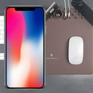 iPhone X Wireless Charging Mousepad Mouse Pad Phone Holder Stand