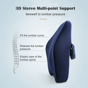 Okeegadgets Memory Foam Lumbar Back Support Side View