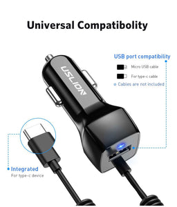 Car Phone Charger For Samsung S10 S9 Plus