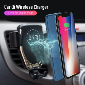 Car Wireless Charger For iPhone Xs Max XR X Samsung