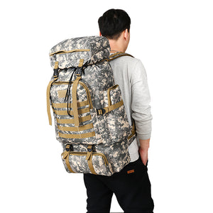 High-Capacity Waterproof Military Backpack