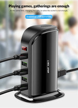 Load image into Gallery viewer, Multi USB Charging Station Dock Universal Mobile Phone
