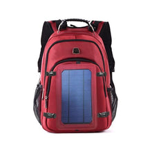 Load image into Gallery viewer, red solar backpack okeegadgets