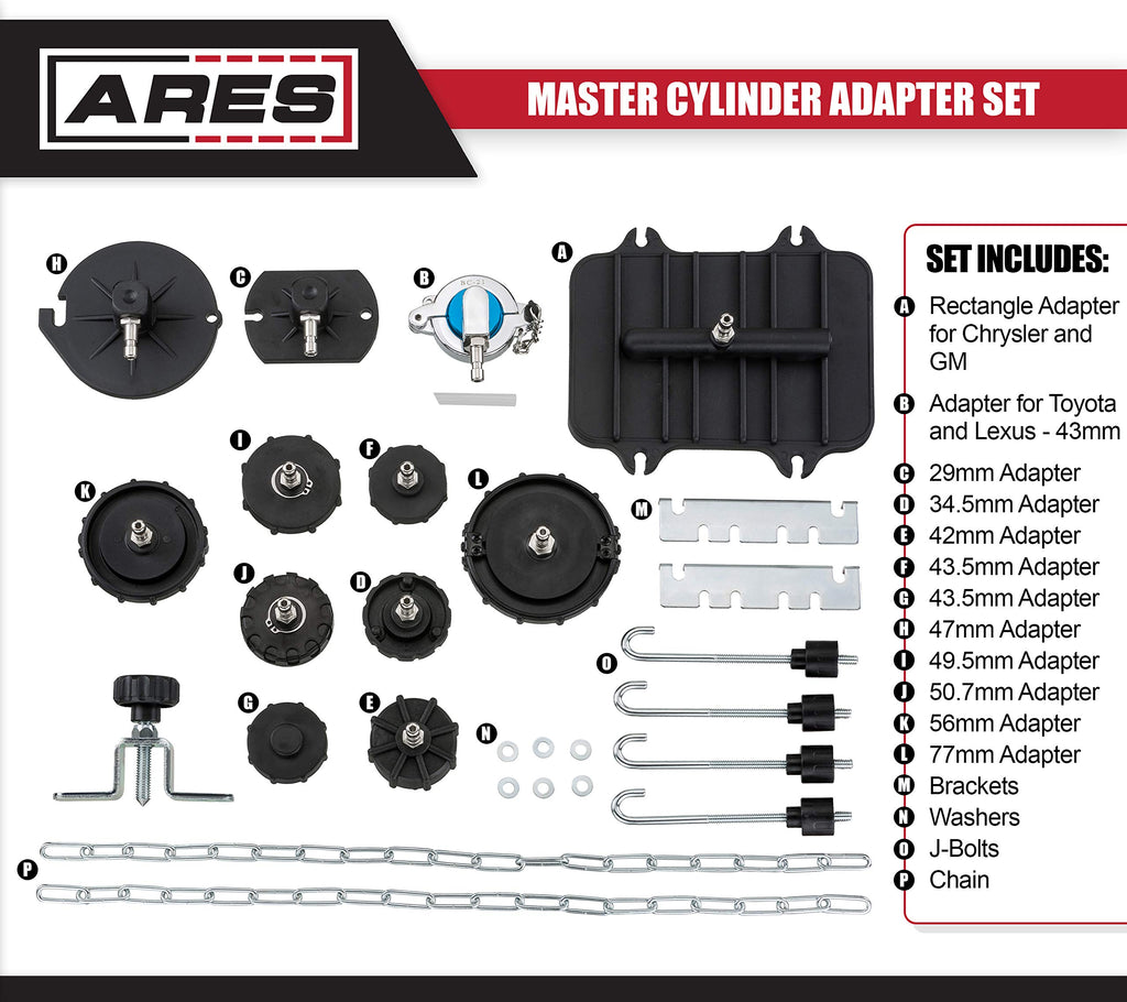 ARES 18005 55mm Master Cylinder Adapter for Use with Honda Master Cylinders Use with Brake Fluid Bleeders