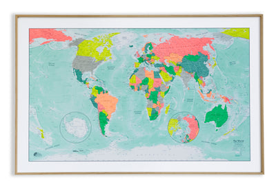Meet our new Winkel Tripel World Wall Map