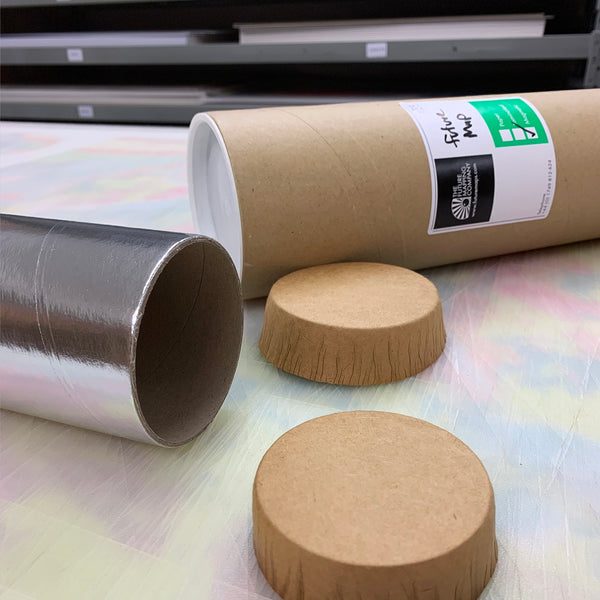 recyclable end caps for postal tubes