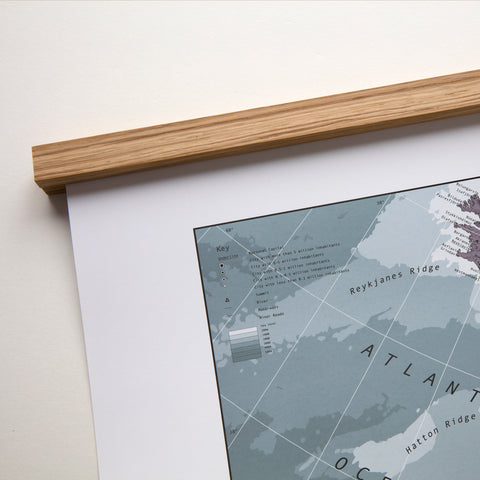 WOODEN HANGING RALS FOR MAP