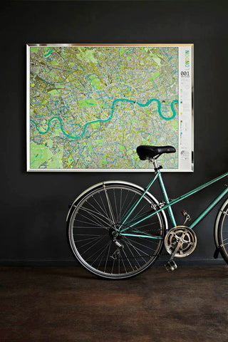 london wall map with cycle routes