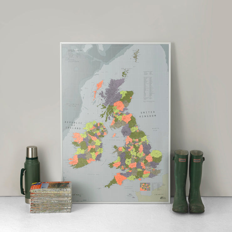 FRAMED MAP OF THE BRITISH ISLES