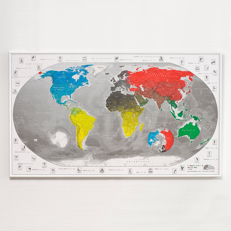 50% Off Plastic Olympic Map