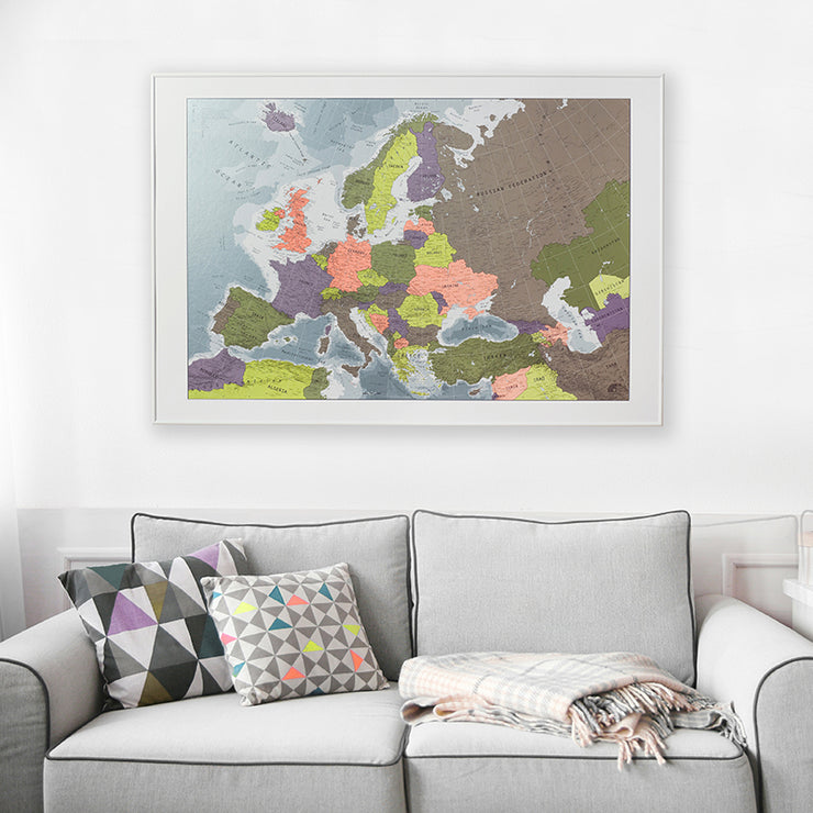 FRAMED EUROPE MAP
