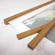 OAK HANGING RAILS - MEDIUM