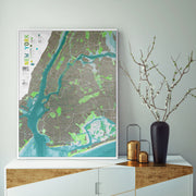FRAMED NEW YORK MAP