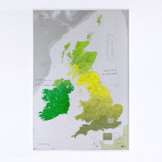 50% Off Paper British Isles Map
