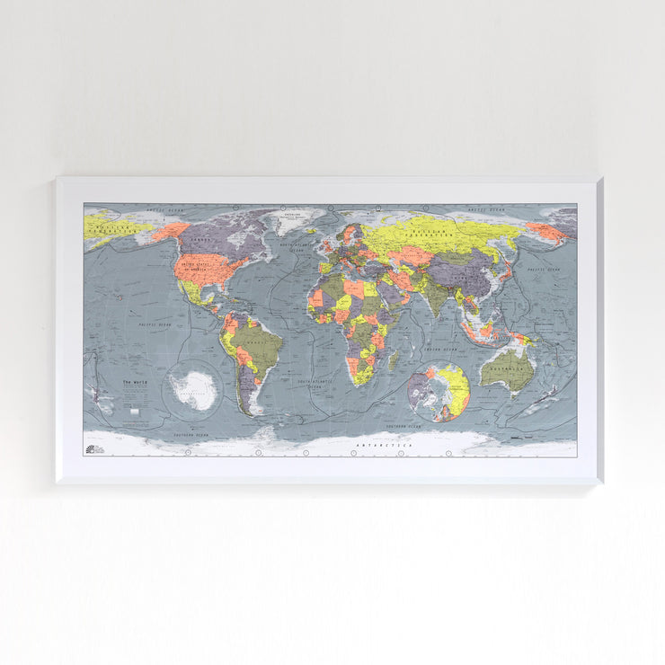 55% Off Framed Map with Paper Finish
