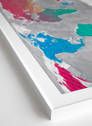 FRAMED WORLD WALL MAP