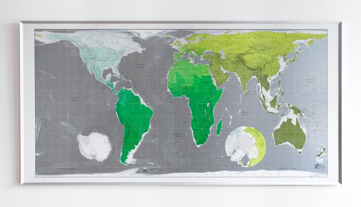 FRAMED MAP OF THE WORLD