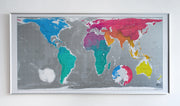LARGE WORLD WALL MAP