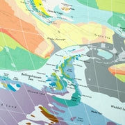 WORLD GEOLOGICAL WALL MAP