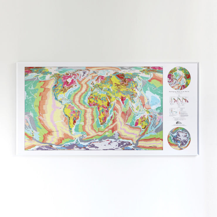 50% Off Plastic Huge World Geology Map