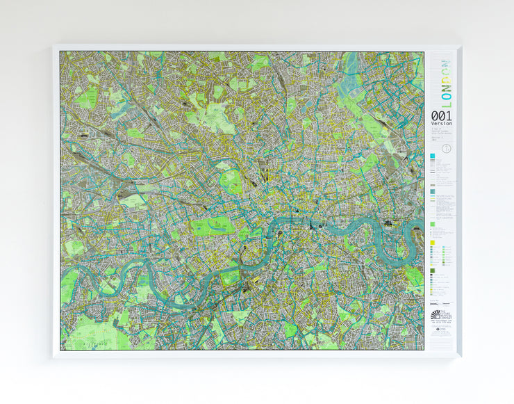 FRAMED LONDON MAP
