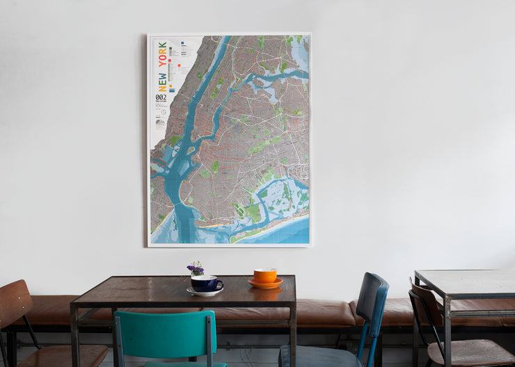 NEW YORK MAGNETIC WALL MAP