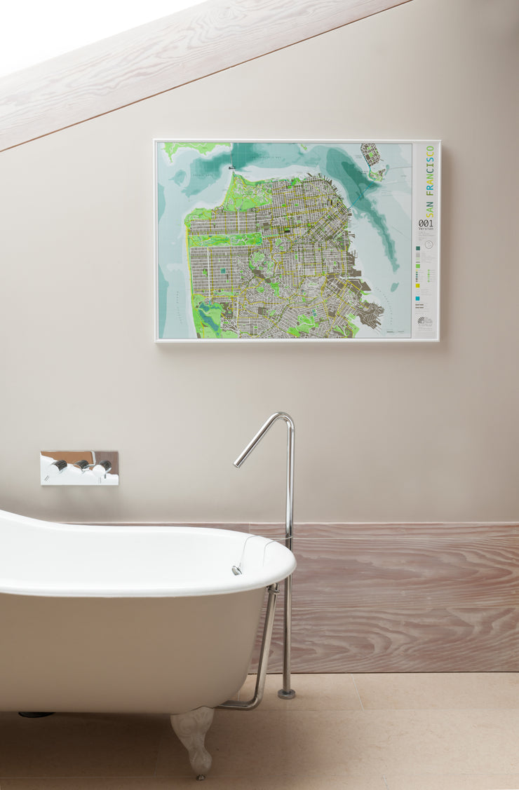 SAN FRANCISCO FRAMED WALL MAP