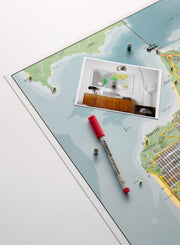 SAN FRANCISCO MAGNETIC WALL MAP