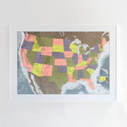50% Off Plastic USA Map