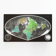 50% Off Paper Wide Angle World Map