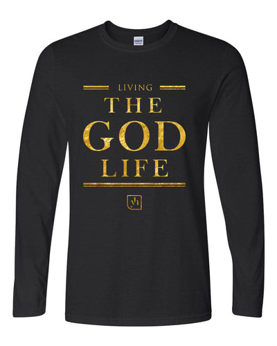 The God Life Long Sleeve Shirt (Black & Gold)