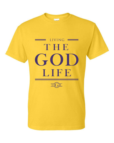 The God Life T-Shirt (Gold & Purple)