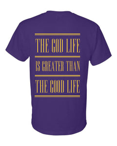 The God Life T-Shirt (Purple & Gold)