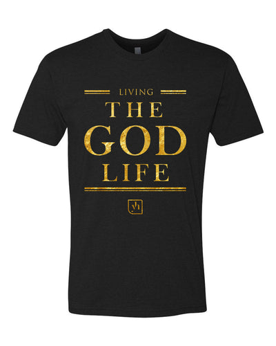 The God Life T-Shirt (Black & Gold)