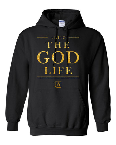 The God Life Hoodie (Black & Gold)