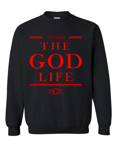 The God Life Sweater (Black & Red)