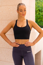 Deezi Active Extended Crop - Black